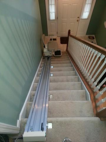 Ameriglide Lexington Stair Lift Installation Pictuures